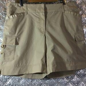 White House Black Market Khaki Cargo Shorts Size 8